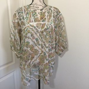 Sheer summer top with tank